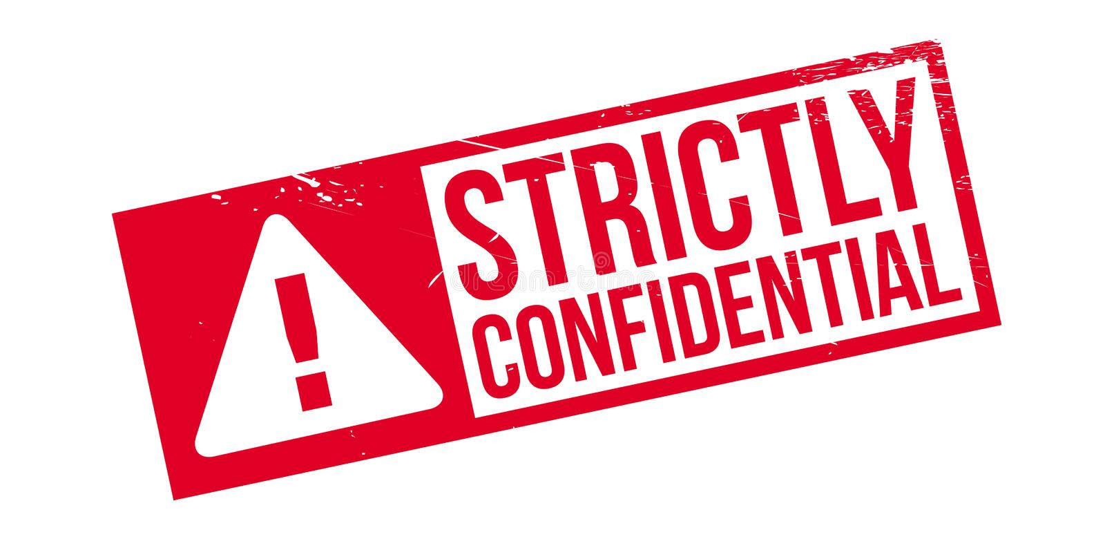Strictly Confidential Rubber Stamp Stock Image - Image of ...