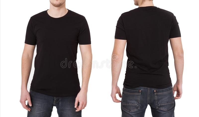 T shirt Template  Front And Back View  Mock Up Isolated On White     Download T shirt Template  Front And Back View  Mock Up Isolated On White