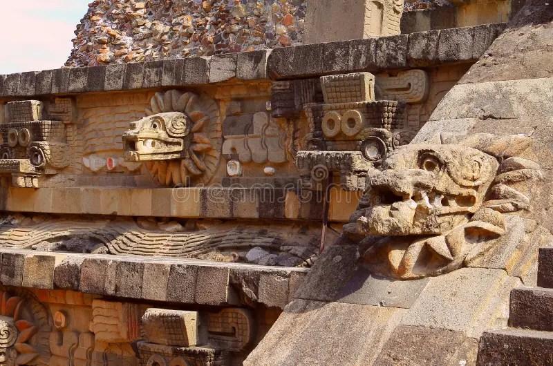 Temple Of Quetzalcoatl Iii Teotihuacan Stock Photo