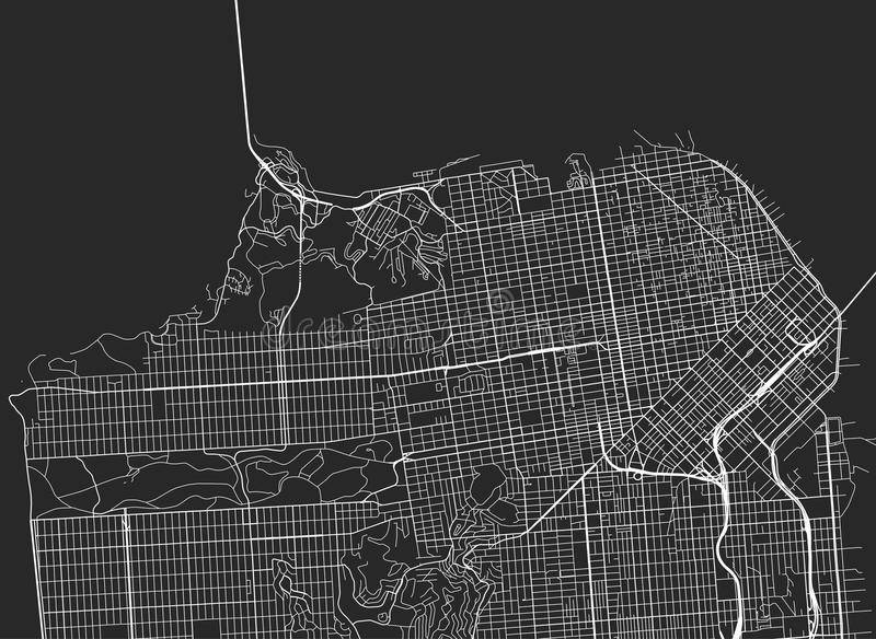 Vector Black Map Of San Francisco Stock Vector   Illustration of     Download Vector Black Map Of San Francisco Stock Vector   Illustration of  white  transport