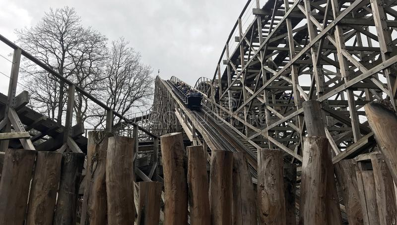 Wooden Rollercoaster Track Stock Photo Image Of Down