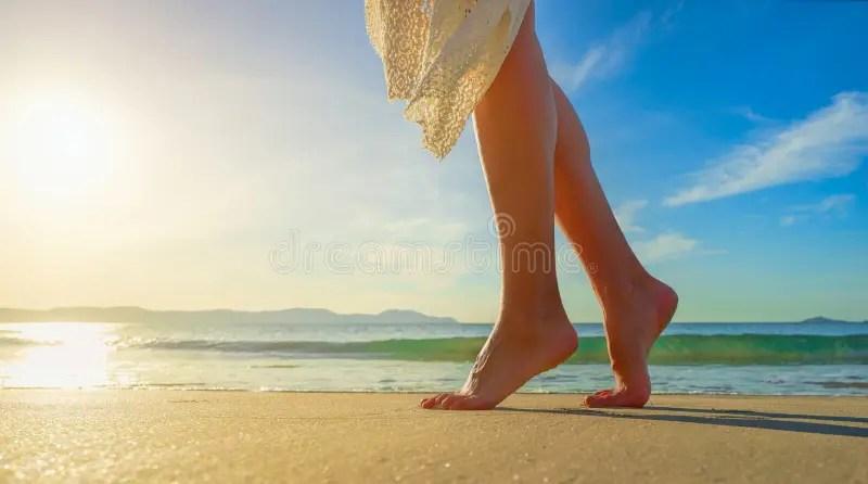 Sad Girl Alone Beach