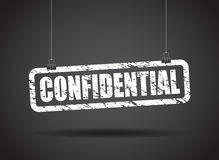 Grungy Confidential Sign Stock Photo - Image: 42233803