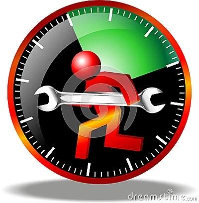 24 Hour Maintenance Logo Stock Images Image 19450084