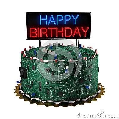 Birthday Cake For Geeks Royalty Free Stock Image Image