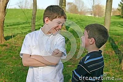 Boys Talking Royalty Free Stock Photography Image 2217007