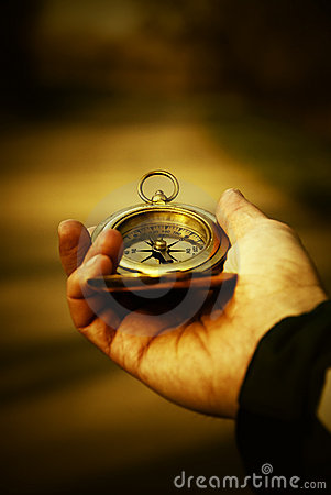 Compass In Hand Stock Photos Image 2208933