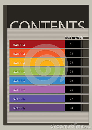 Content Page Layout Boxy Modern Style Royalty Free Stock