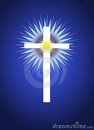 Cross With Radiating Light Behind Stock Photos Image