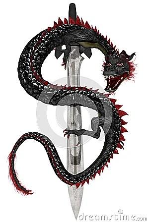 Eastern Dragon - Black Stock Photography - Image: 1977082