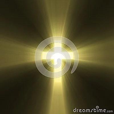 Holy Cross Symbol Sun Light Flare Stock Images Image