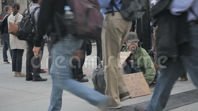 Homeless Man Stock Video Video Of Humanity Shelter