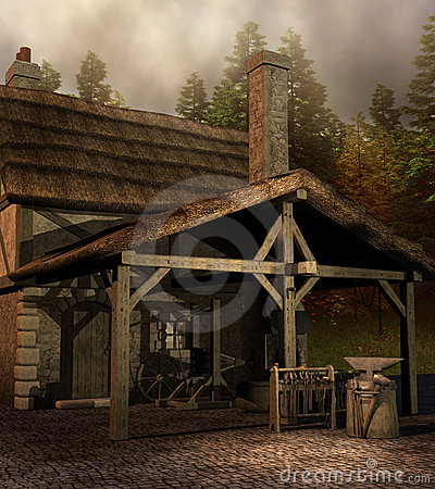 Medieval Blacksmith House Stock Images Image 23125884