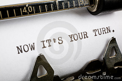 Now It S Your Turn Stock Images Image 5007214