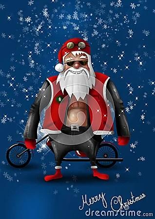 Santa Claus Biker Stock Photos Image 21963293