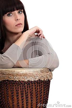 Woman Playing Bongo Royalty Free Stock Photos - Image ...