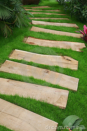 Wooden Plank Path Stock Image Image 2394431