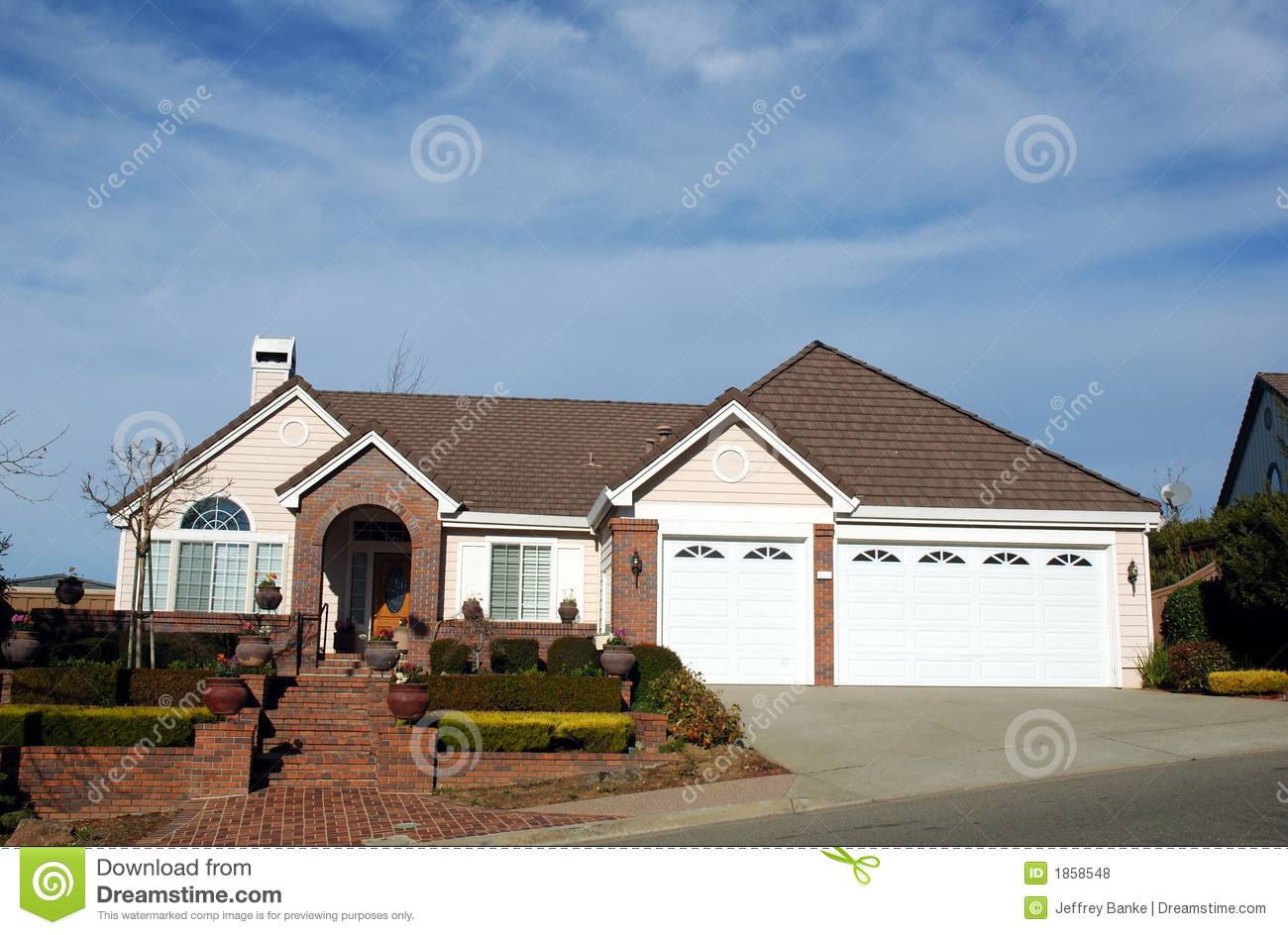 1990 S Home In Northern California Royalty Free Stock