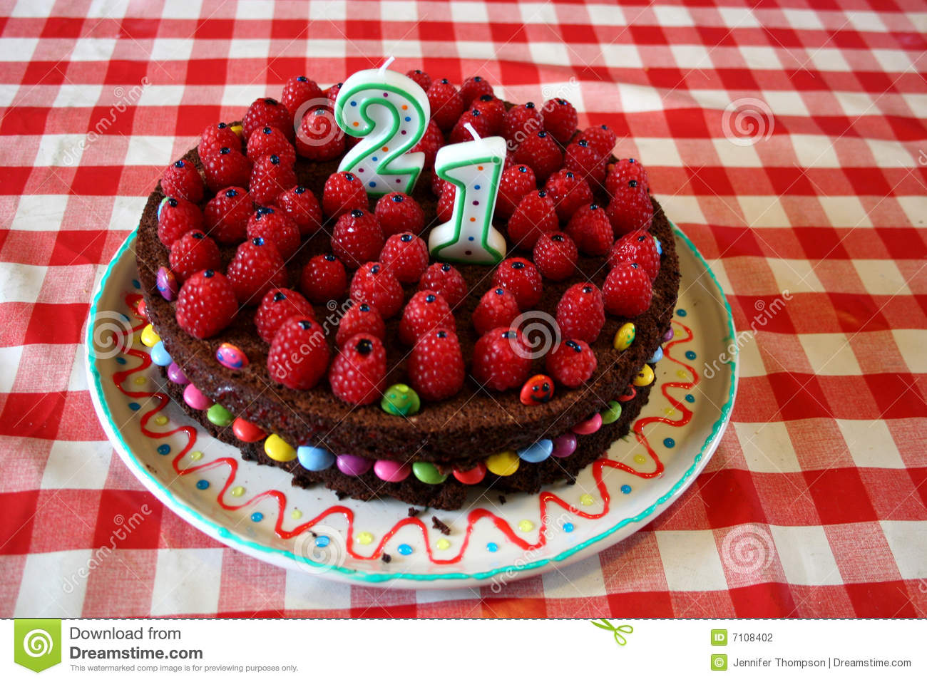 21st Birthday Cake Stock Photo Image Of First Decorate