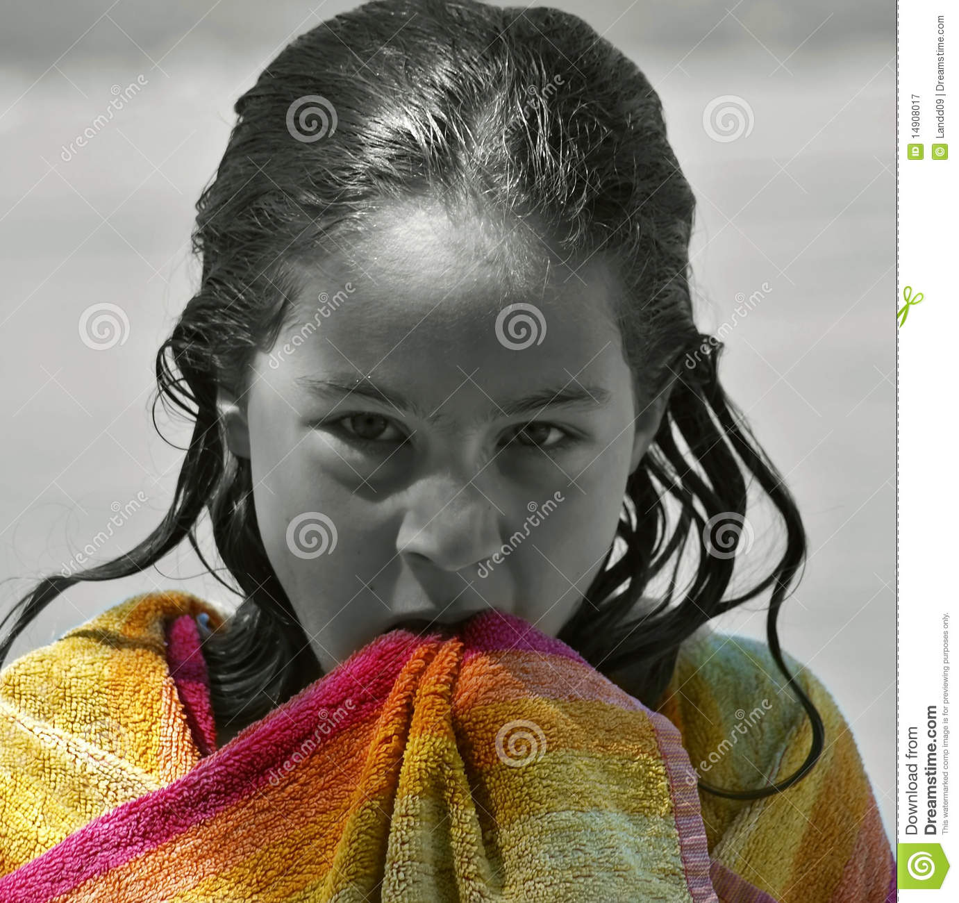 Angry Wet Girl Royalty Free Stock Photography - Image ...