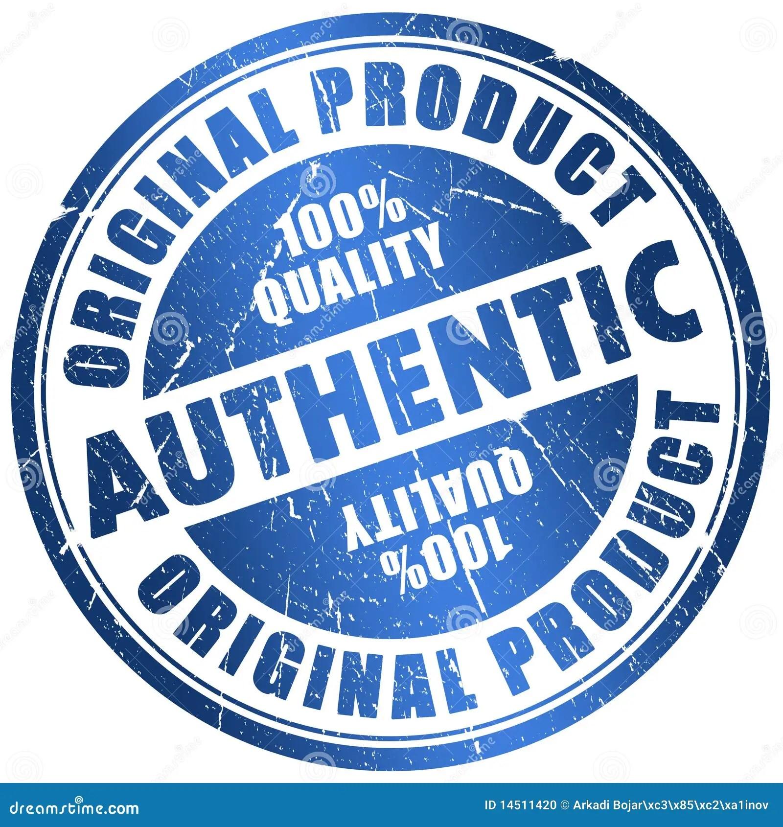 Authentic Stamp Stock Illustration Illustration Of