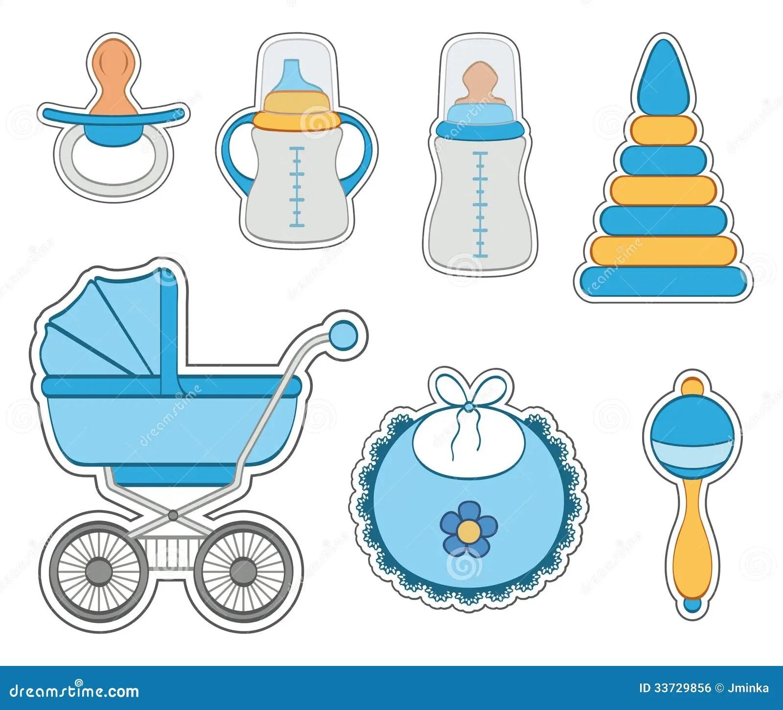 Baby Boy Icon Set Stock Vector Image Of White Illustration 33729856