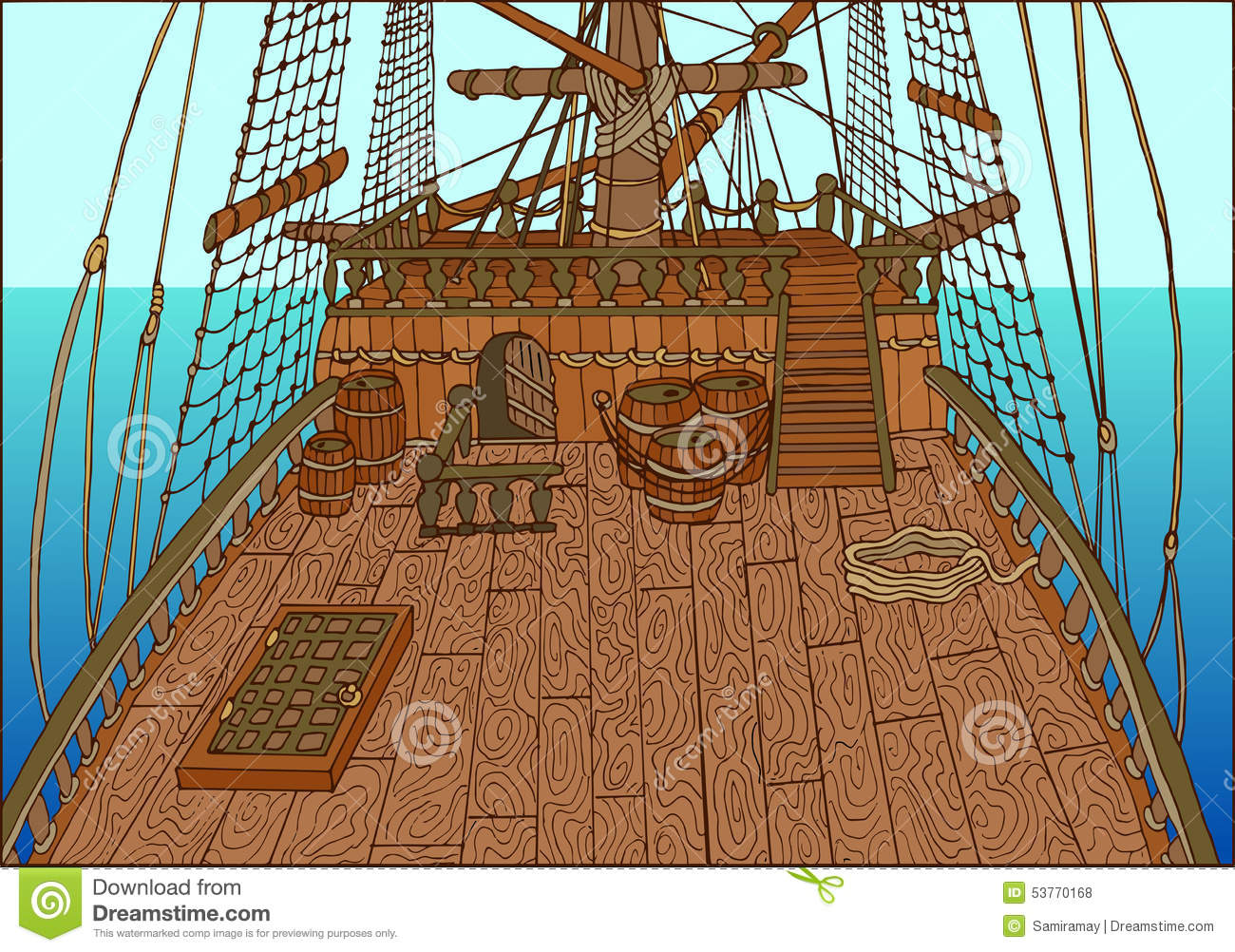 Artwork Pirate Ship Hold