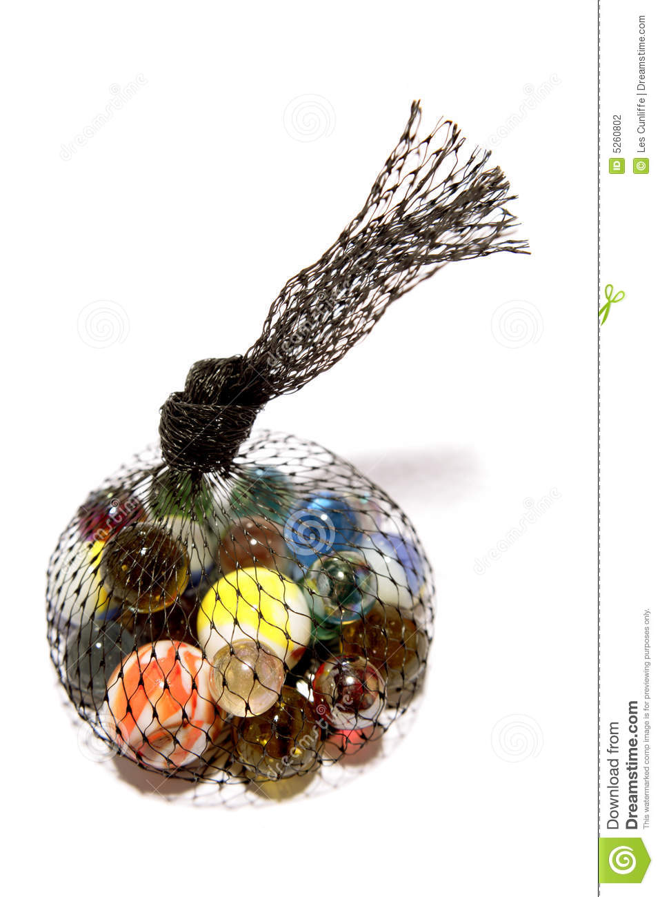 Bag Of Marbles Stock Photo Image Of Isolated Sphere