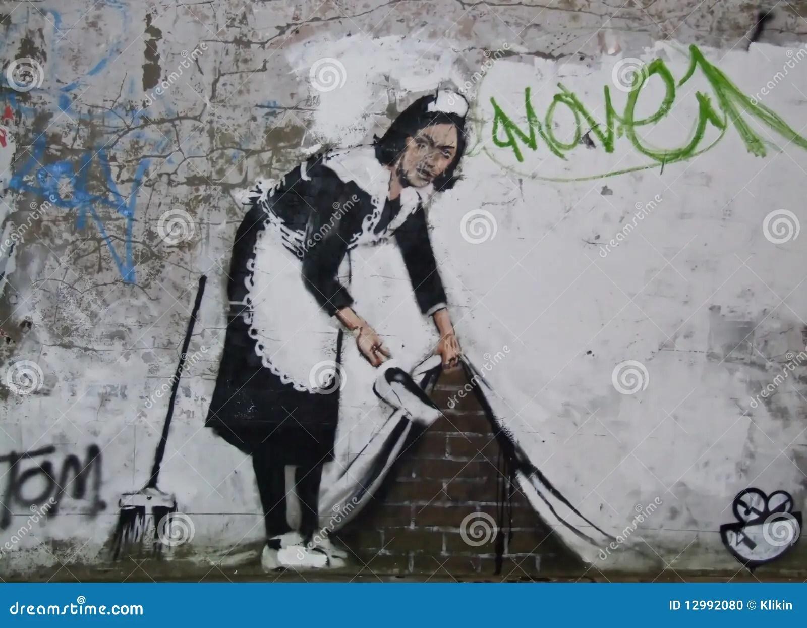 Banksy Chalk Farm Rd London Editorial Image Image