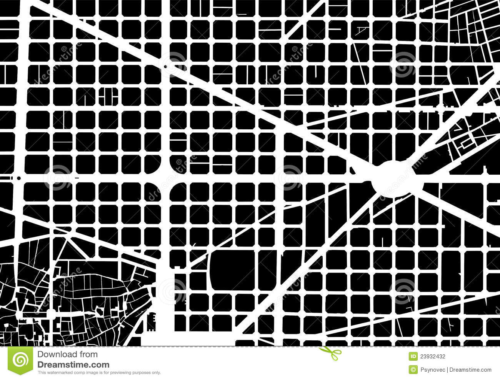 Black And Barcelona City White