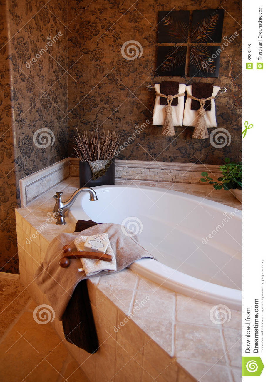 Bathroom In New Model Home Royalty Free Stock Photos