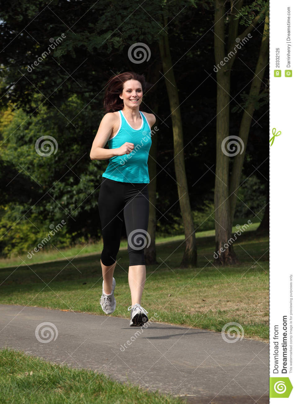 Beautiful fit young woman running park royalty free, 5 8 0 6 9 1 7 4 2