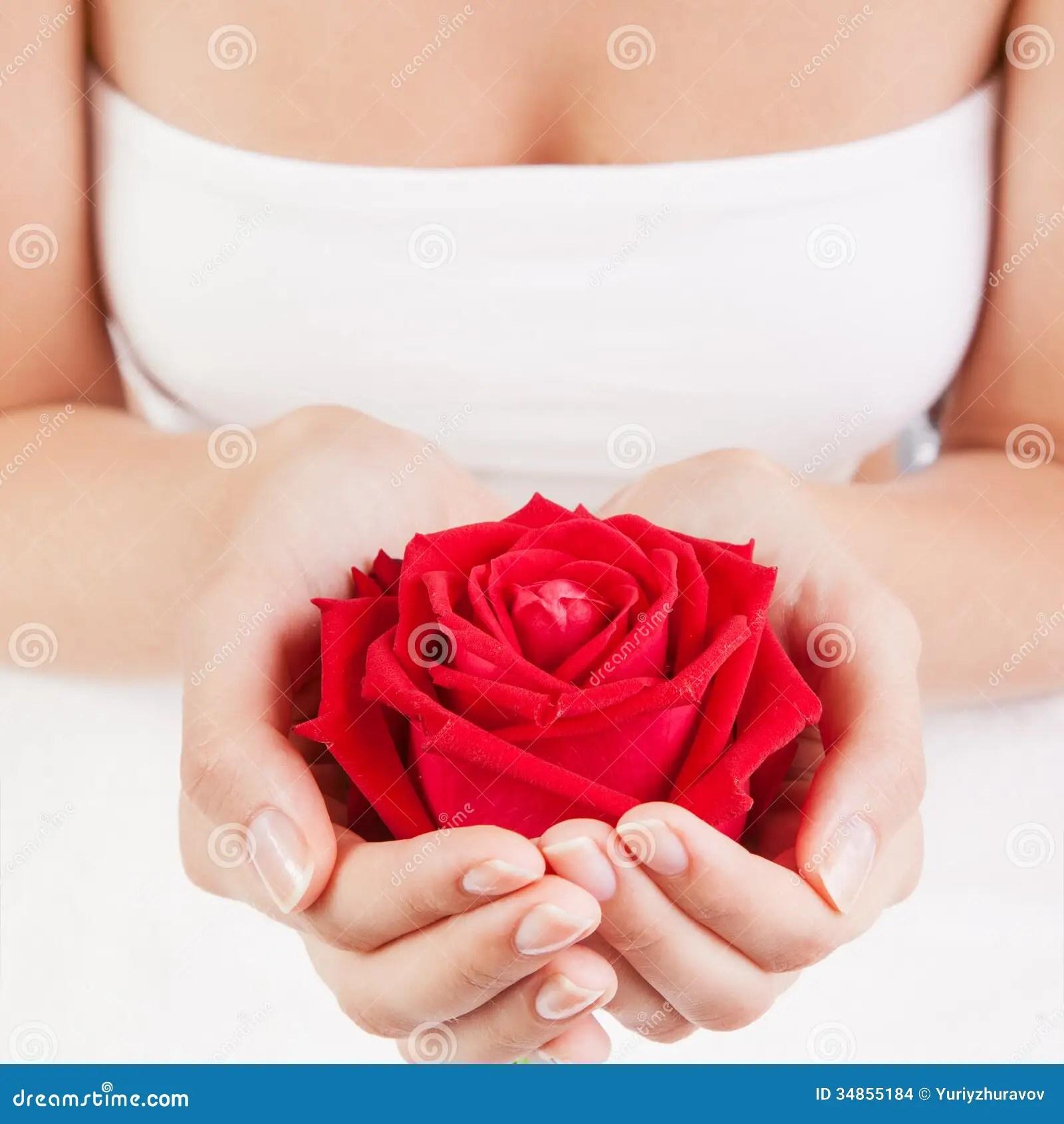 Holding Both Hands Rose