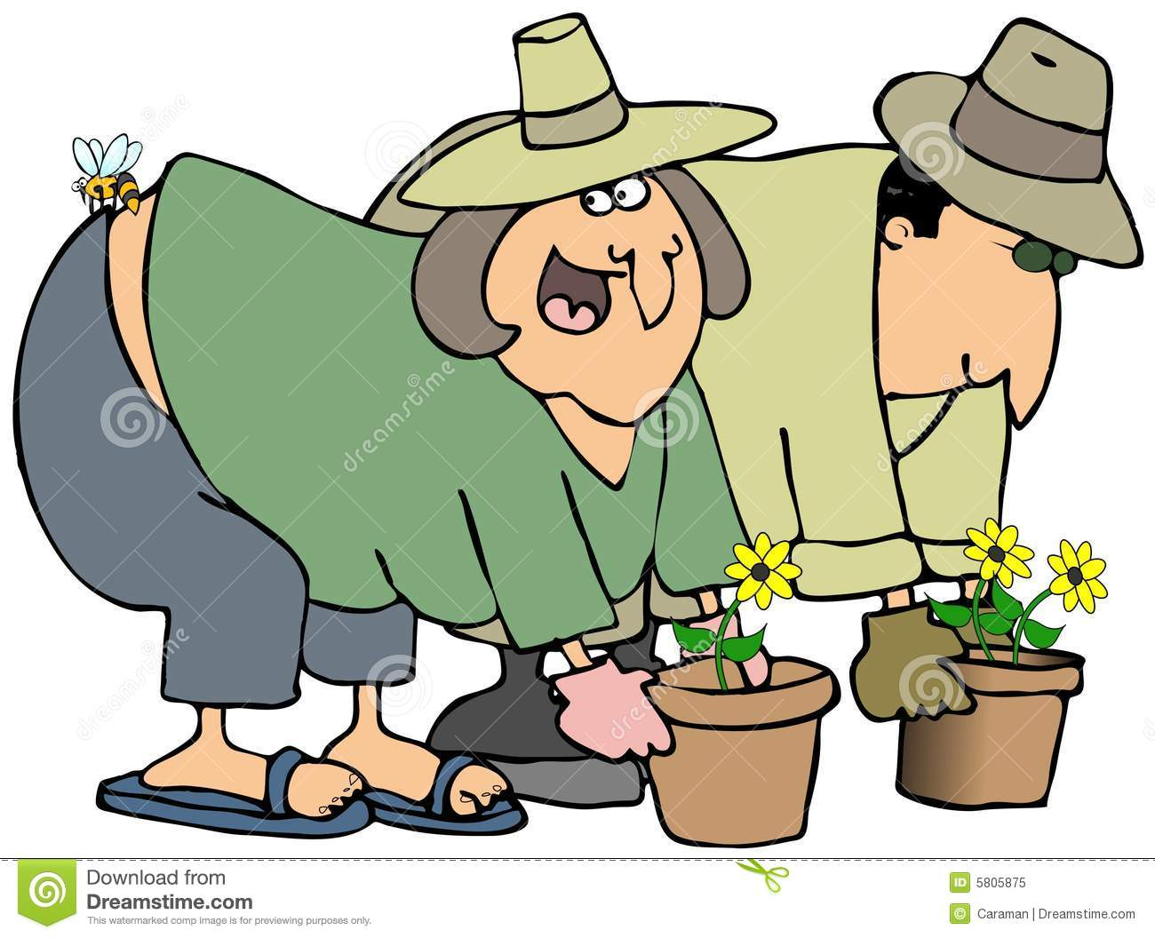 people gardening clip art - 612×455