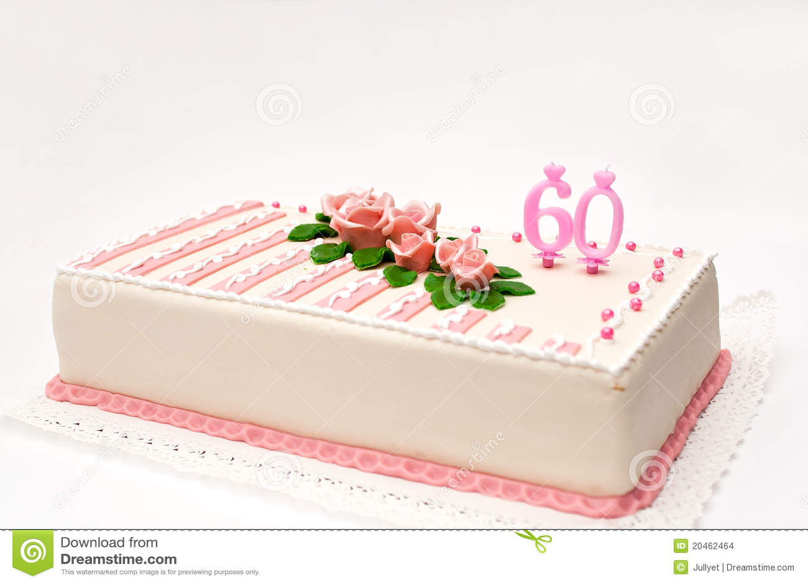 60th Birthday Cake Decorating Ideas