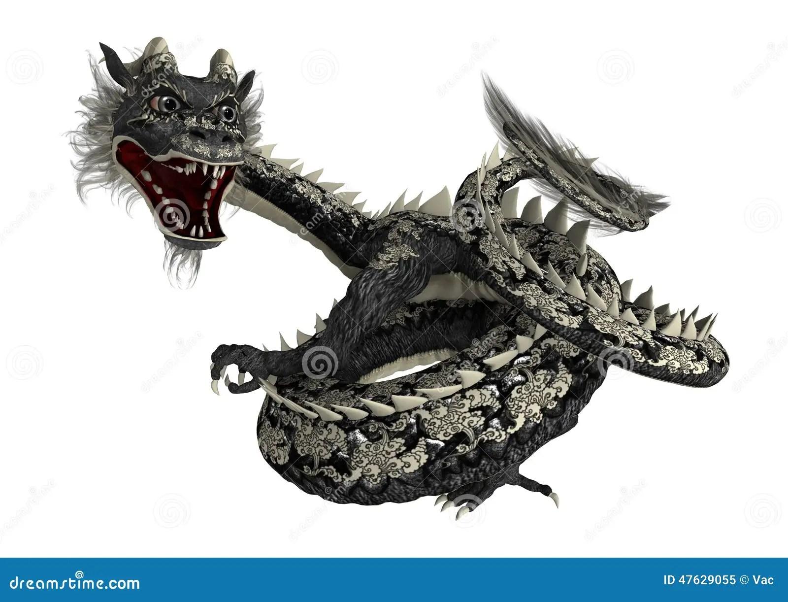 Black Eastern Dragon Stock Illustration - Image: 47629055