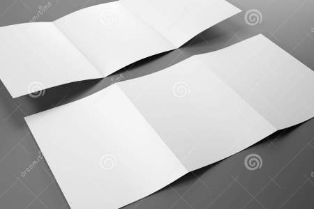 Blank Template Of Trifold Brochure A4 Size Stock Illustration     Blank Template of Trifold Brochure A4 Size