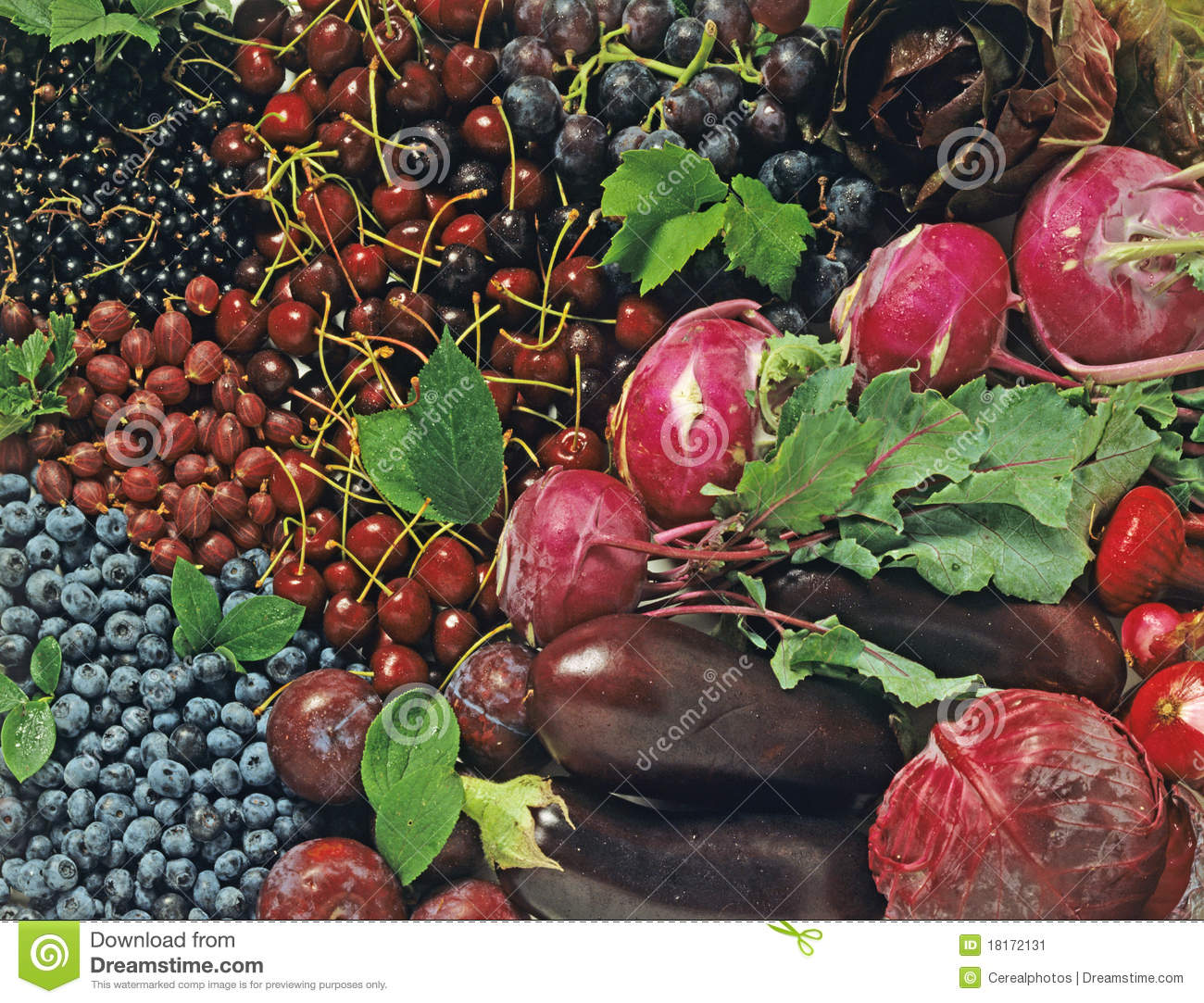 Blue Fruits And Vegetables Stock Image Image Of Display