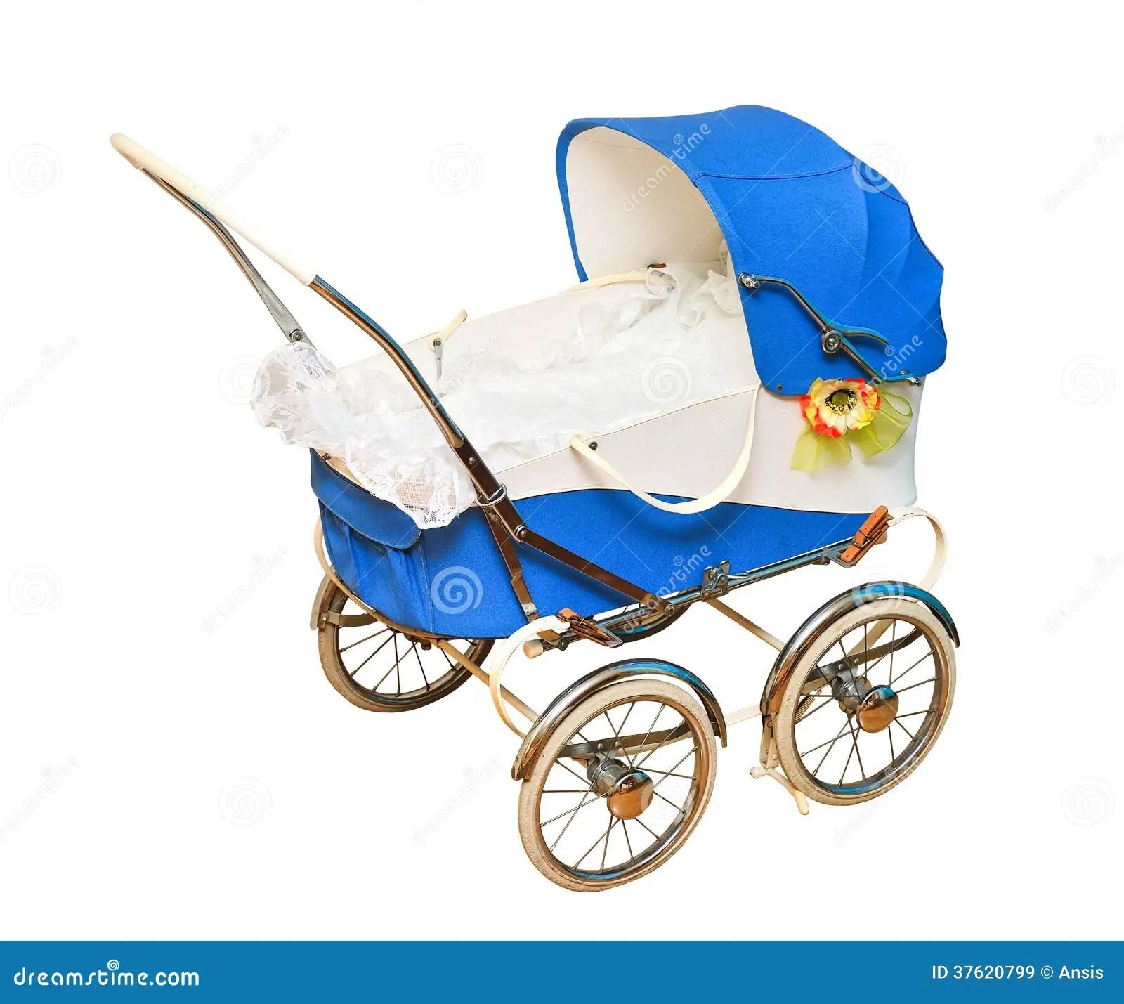 Baby Blue Vintage Pram Cartoon Vector Cartoondealer Com 66458461