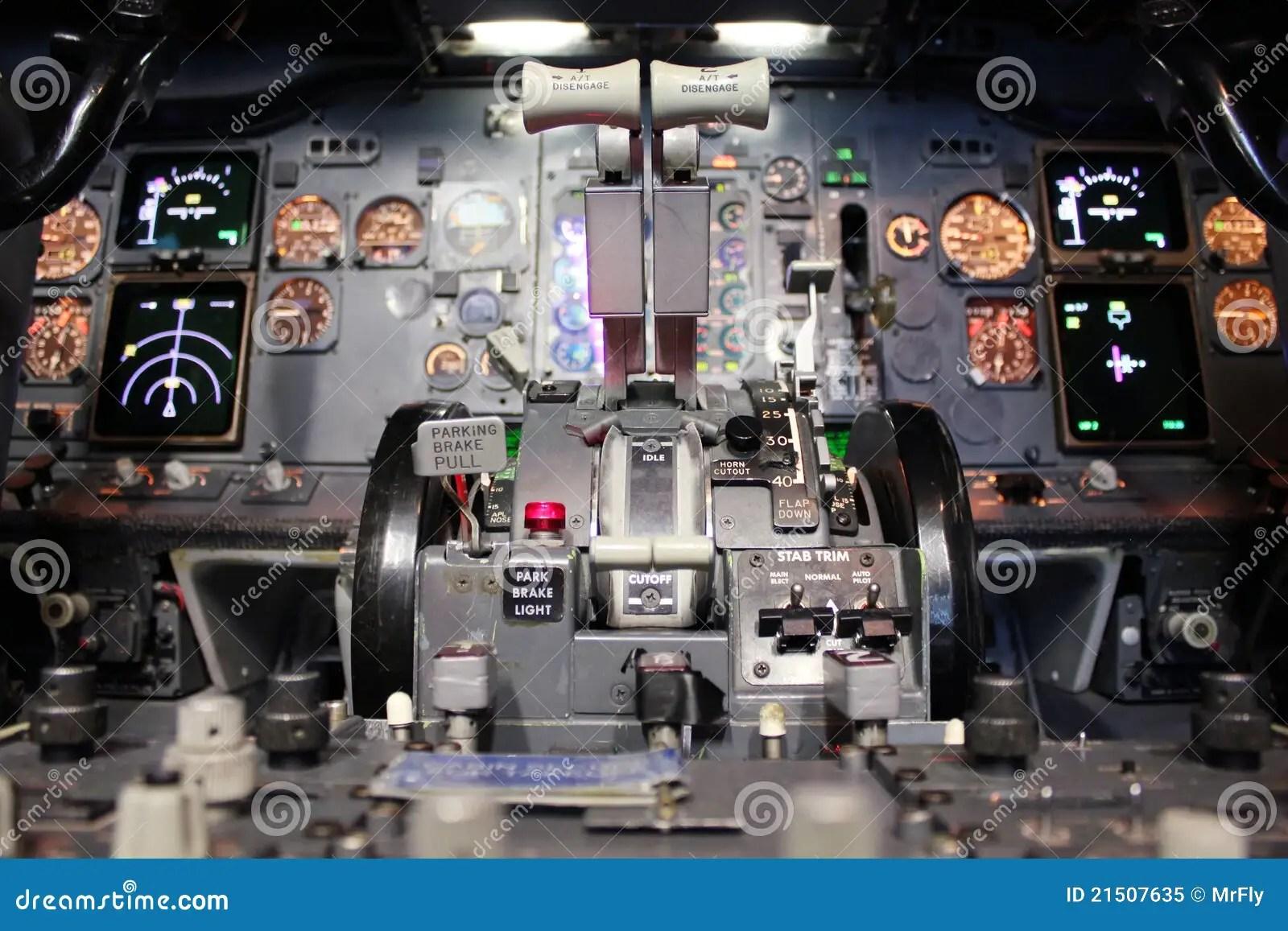 Boeing 737 Flight Deck Stock Image Image Of Deck