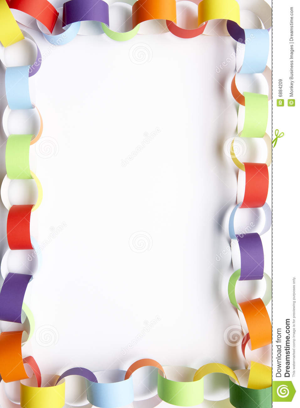 Border Made From Paper Chains Stock Image - Image of ...
