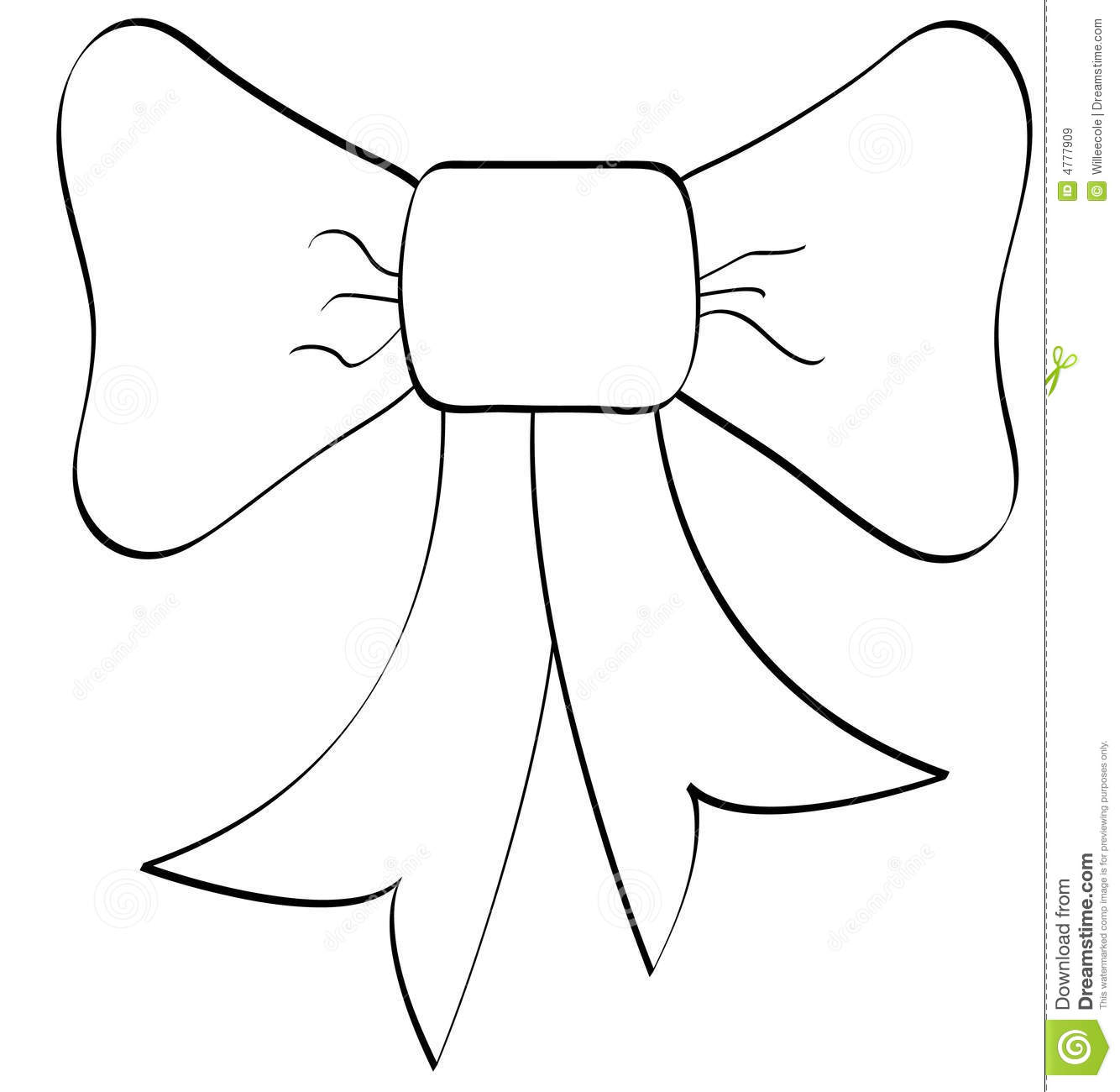 Gift Bow Coloring Page Coloring Page