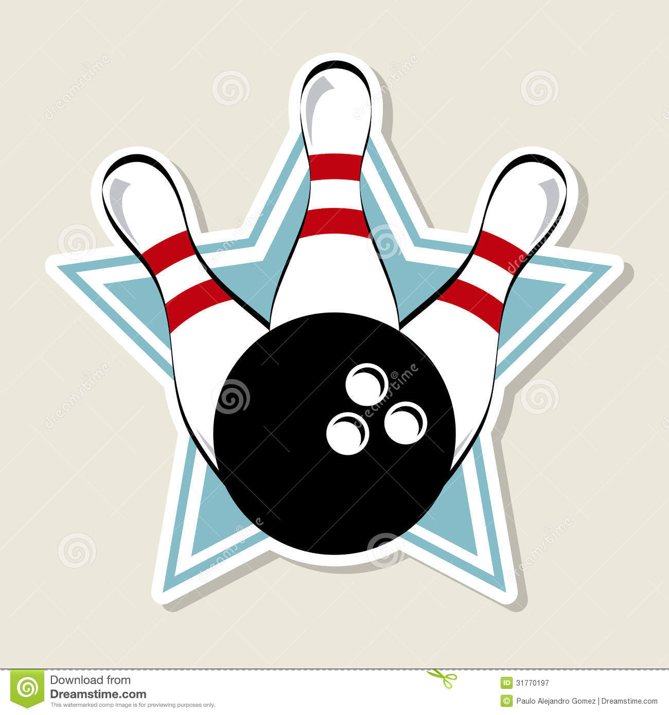 Bowling Label Royalty Free Stock Photography - Image: 31770197