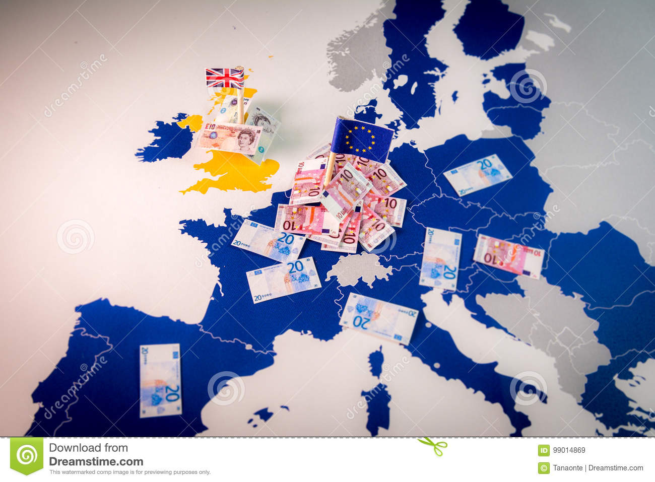 Brexit Concept And Economic Power On A EU Map Editorial Stock Image     Download Brexit Concept And Economic Power On A EU Map Editorial Stock  Image   Image of