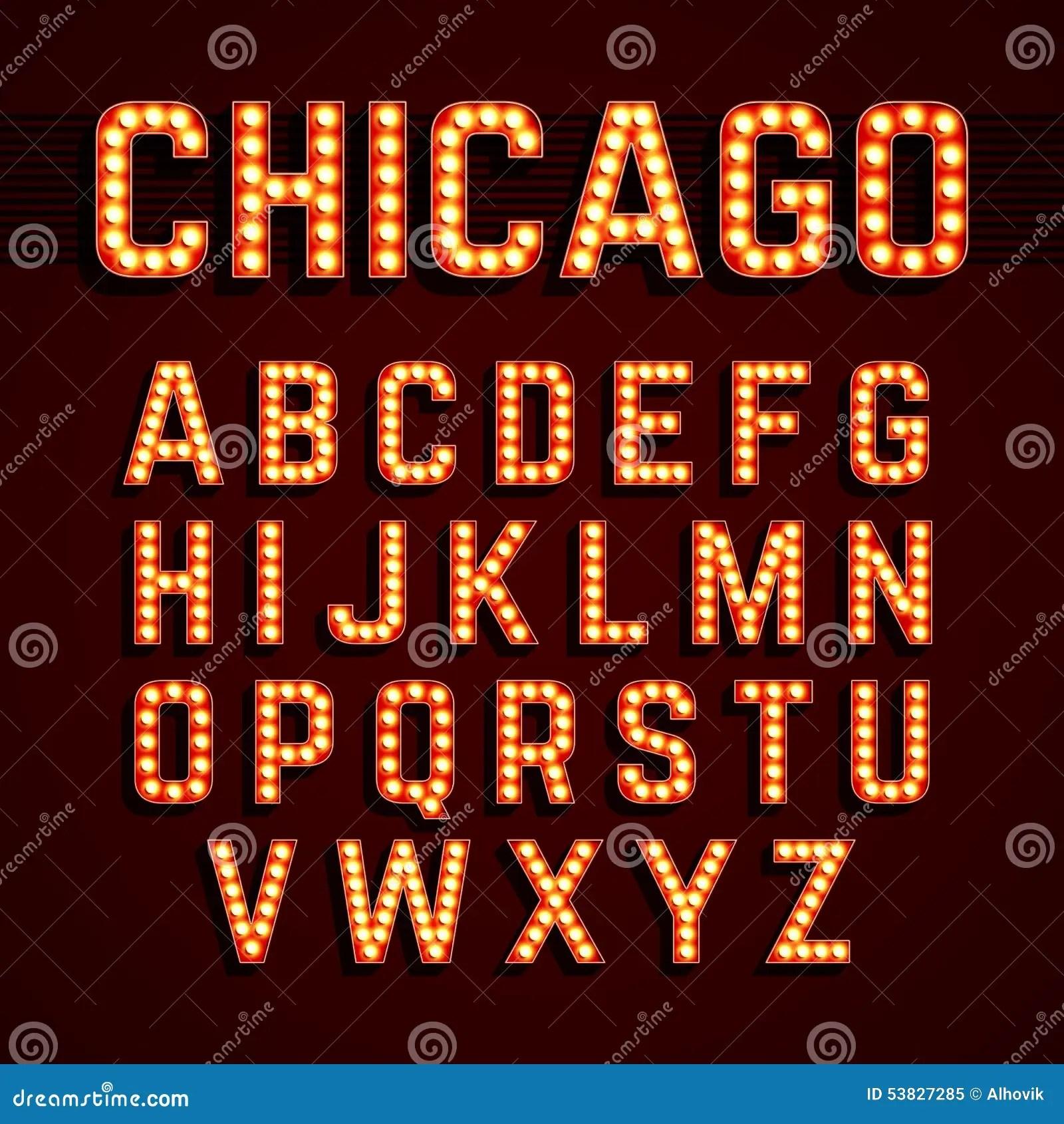 Broadway Light Bulb Font