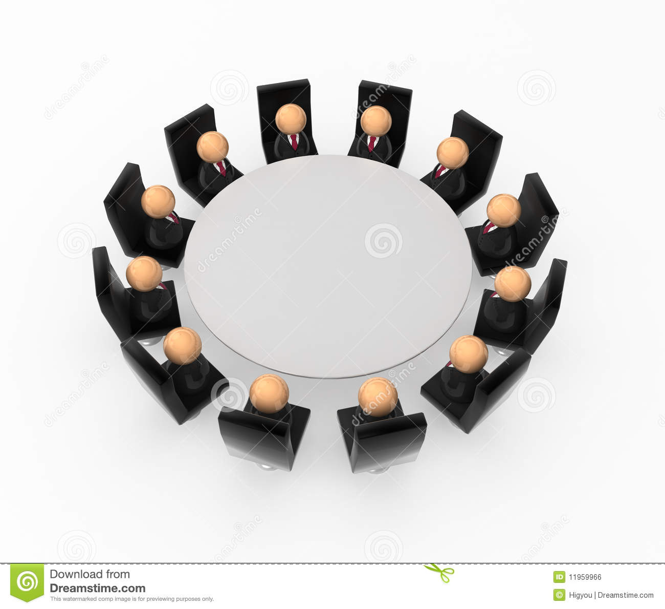 Business Symbols Round Table Royalty Free Stock Image