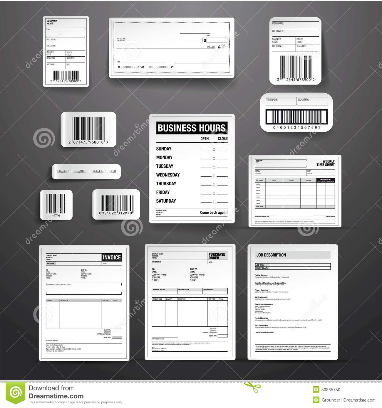 Business Template Vector Set Stock Vector   Illustration of open     Business template vector set