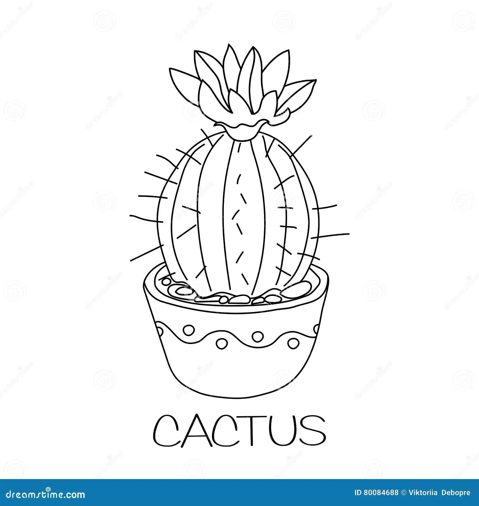 Prickly Pear Cactus Coloring Page