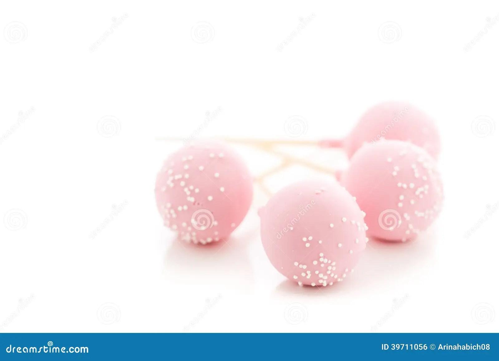 Pink Birthday Cake Pops Starbucks