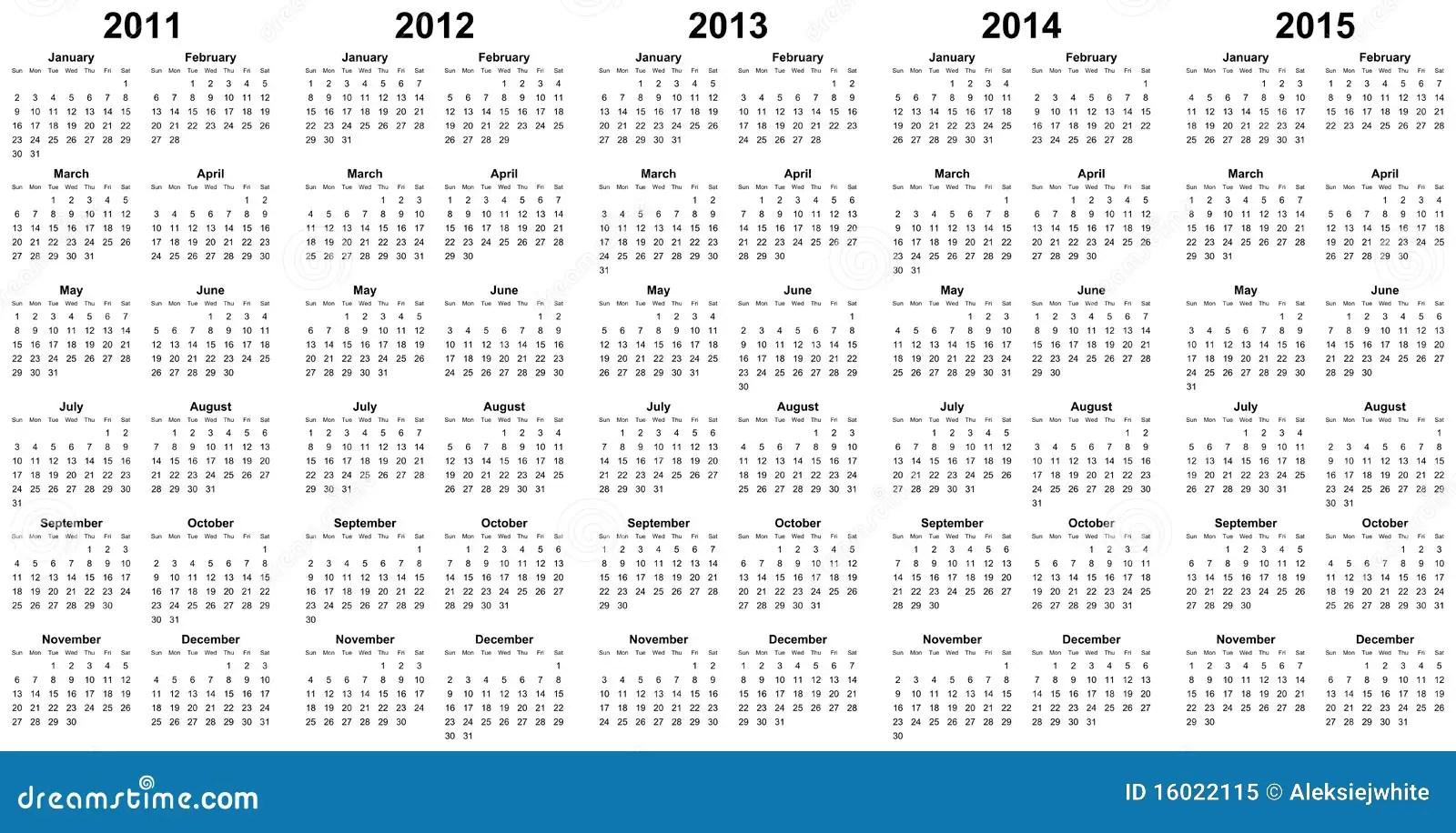 3 Year Calendar 2013 2014 2015